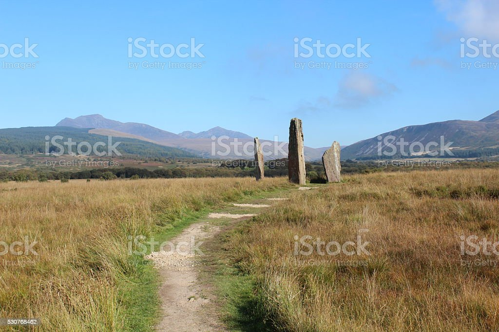 Stone Circle on Isle of Arran royalty-free stock photo