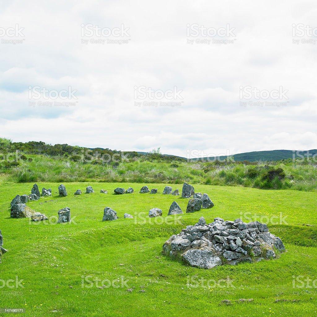 stone circles, Beaghmore stock photo