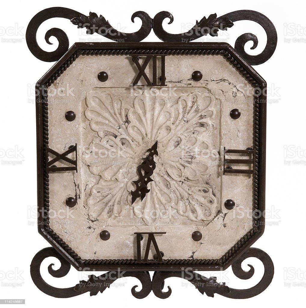 Stone Clock stock photo