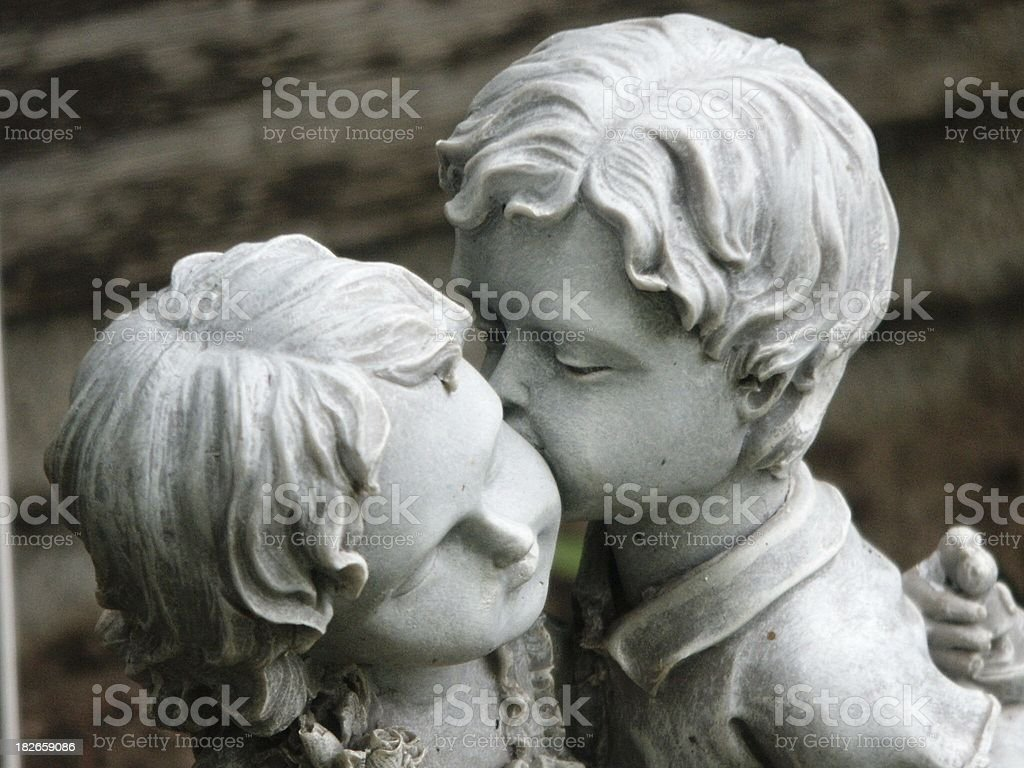 Stone cold kissing royalty-free stock photo