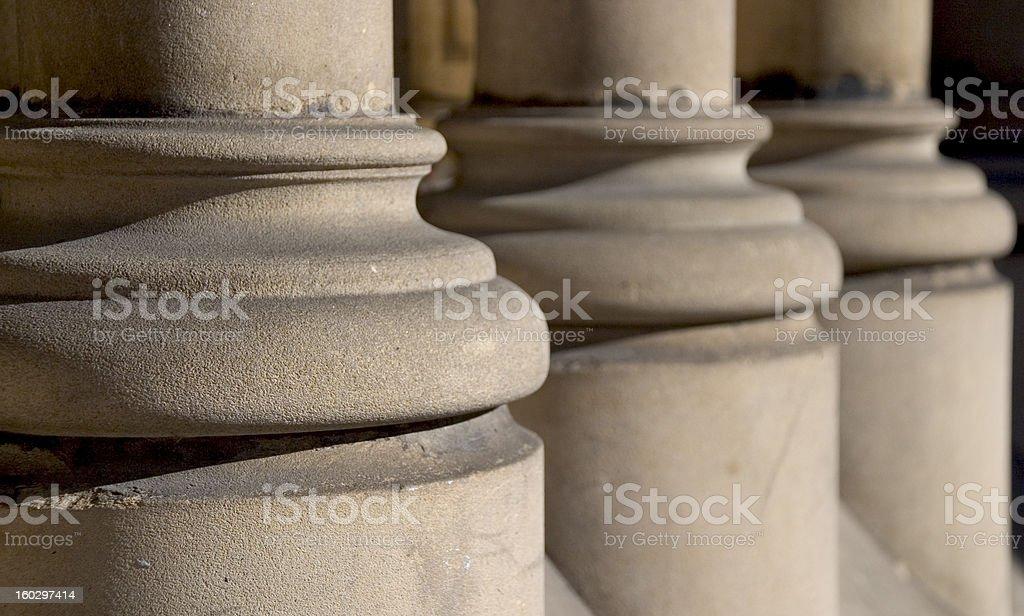 Stone column base stock photo