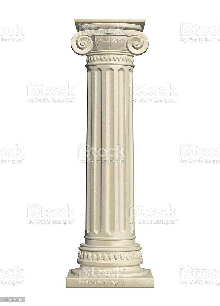 Stone column stock photo