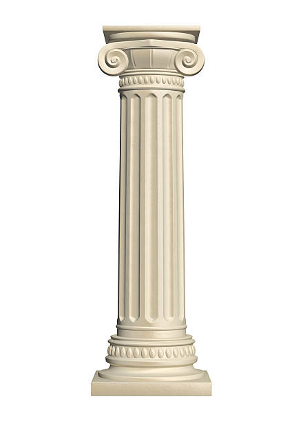 Stone column stock photo