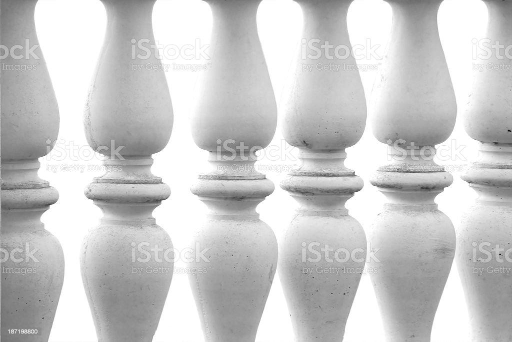 Stone columns isolated royalty-free stock photo