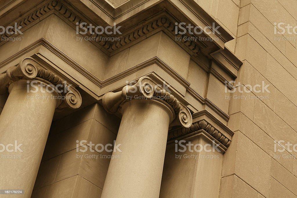 Stone columns stock photo
