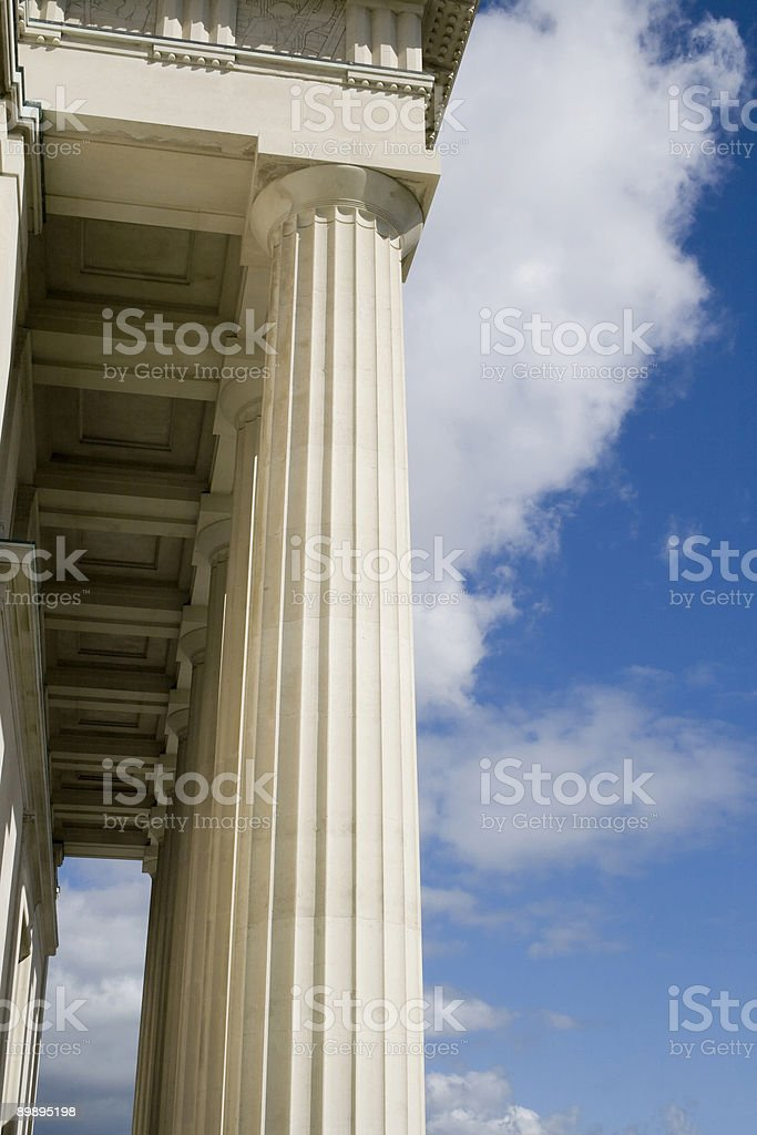 Stone Columns with Portico roof royalty-free stock photo