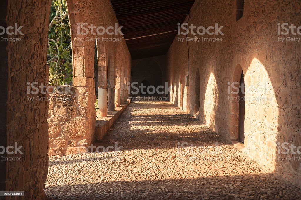 stone corridor royalty-free stock photo