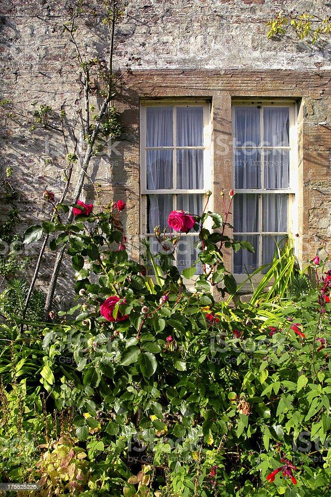 Stone Cottage, Scotland stock photo