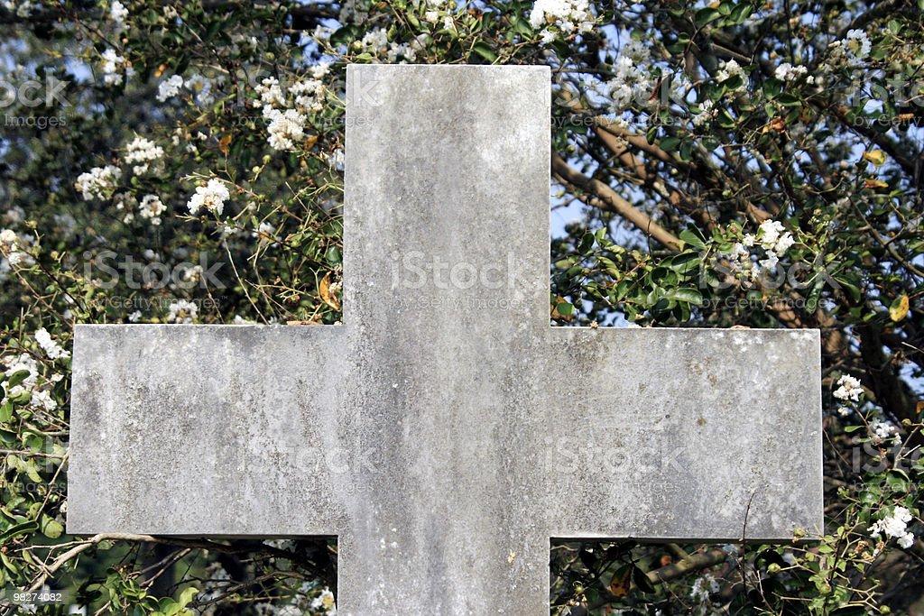 Croce di pietra foto stock royalty-free