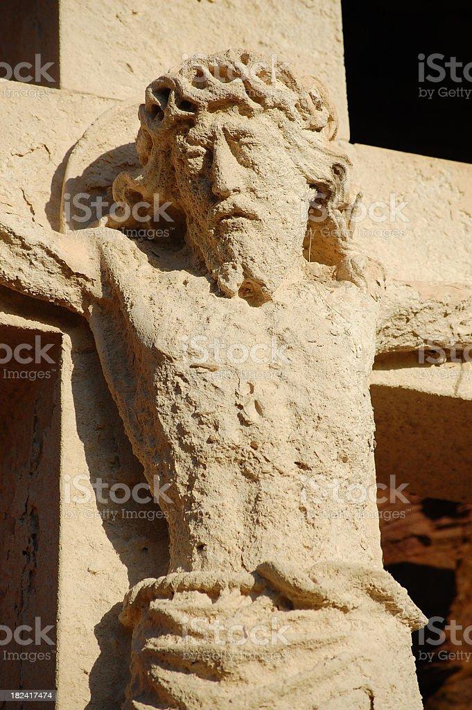 Stone Crucifix Monument royalty-free stock photo