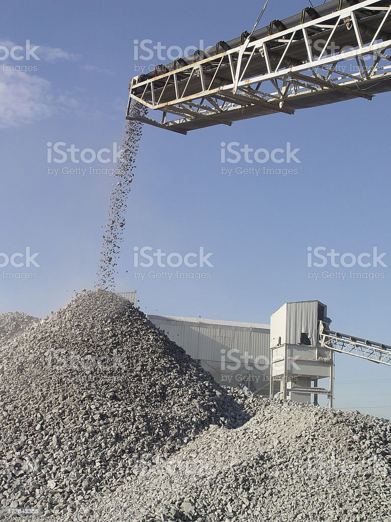 Stone Crusher Conveyor royalty-free stock photo