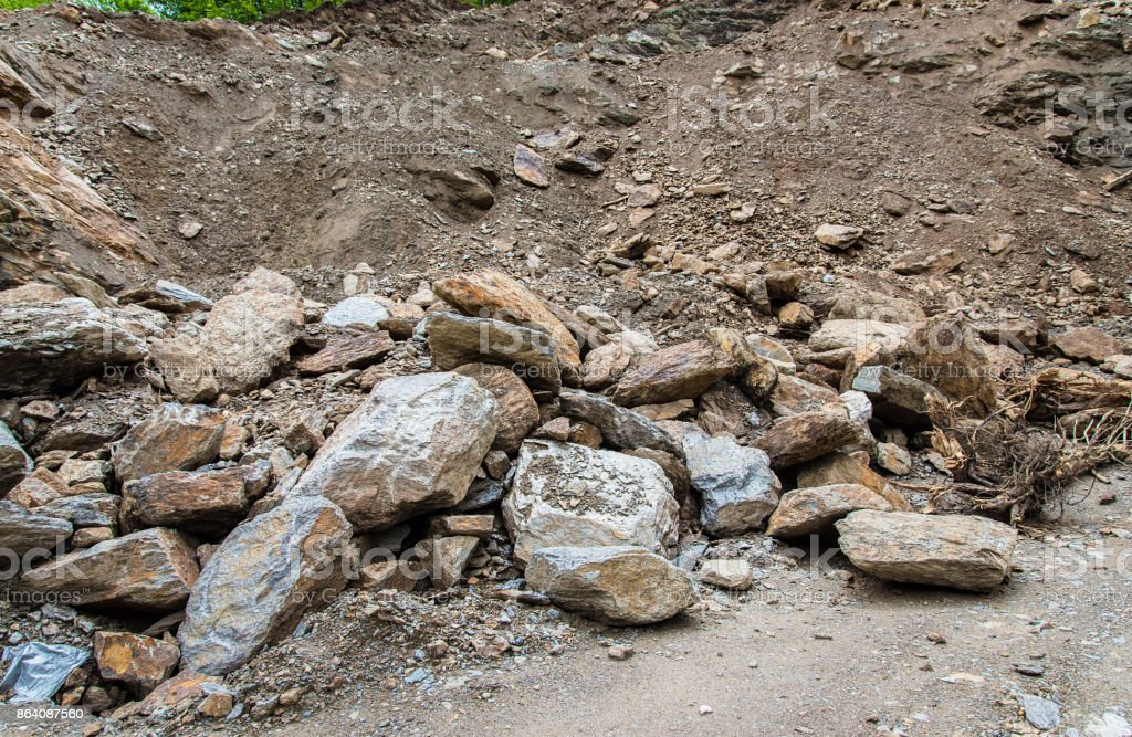 Stone crusher in mine quarry royalty-free stock photo