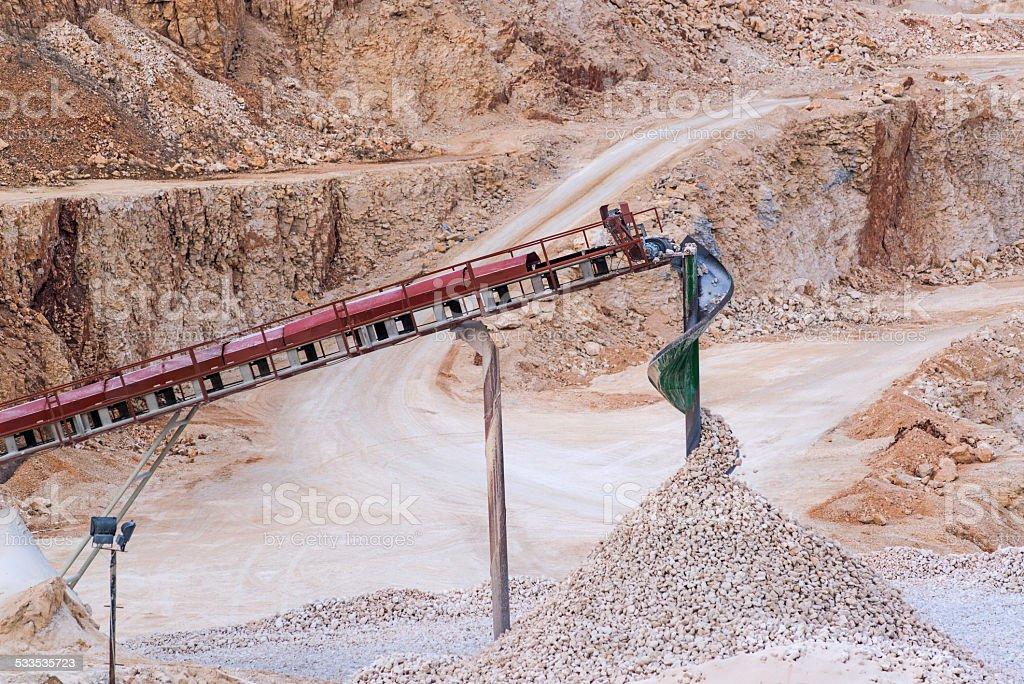 Stone crushing equipment. stock photo