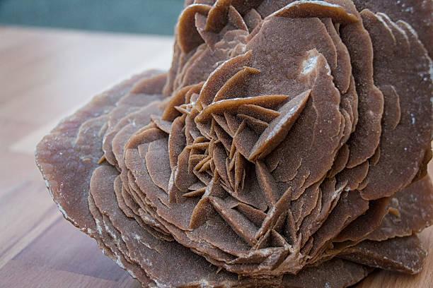 stone rose du désert - rose des sables photos et images de collection