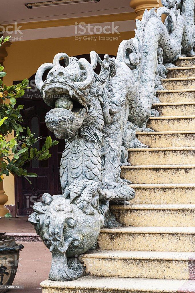 Stone Dragon Sculpture, Vietnam royalty-free stock photo