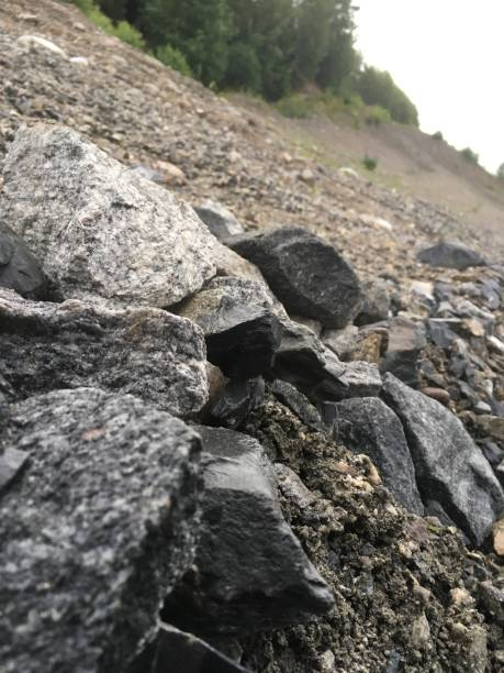 Stone edges stock photo