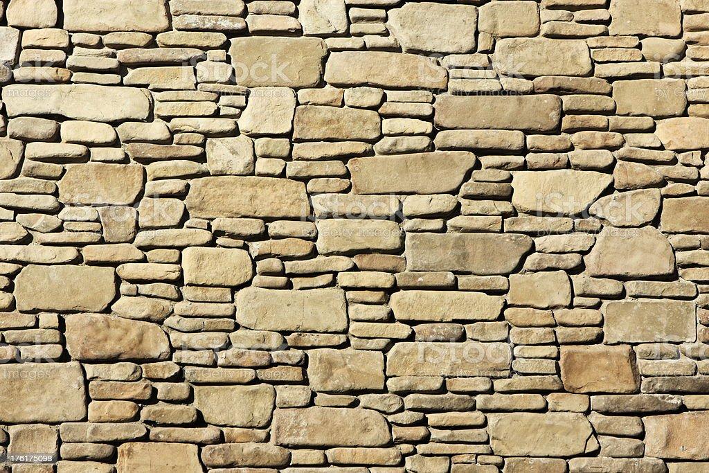 Stone Facade River Rock Construction Material royalty-free stock photo