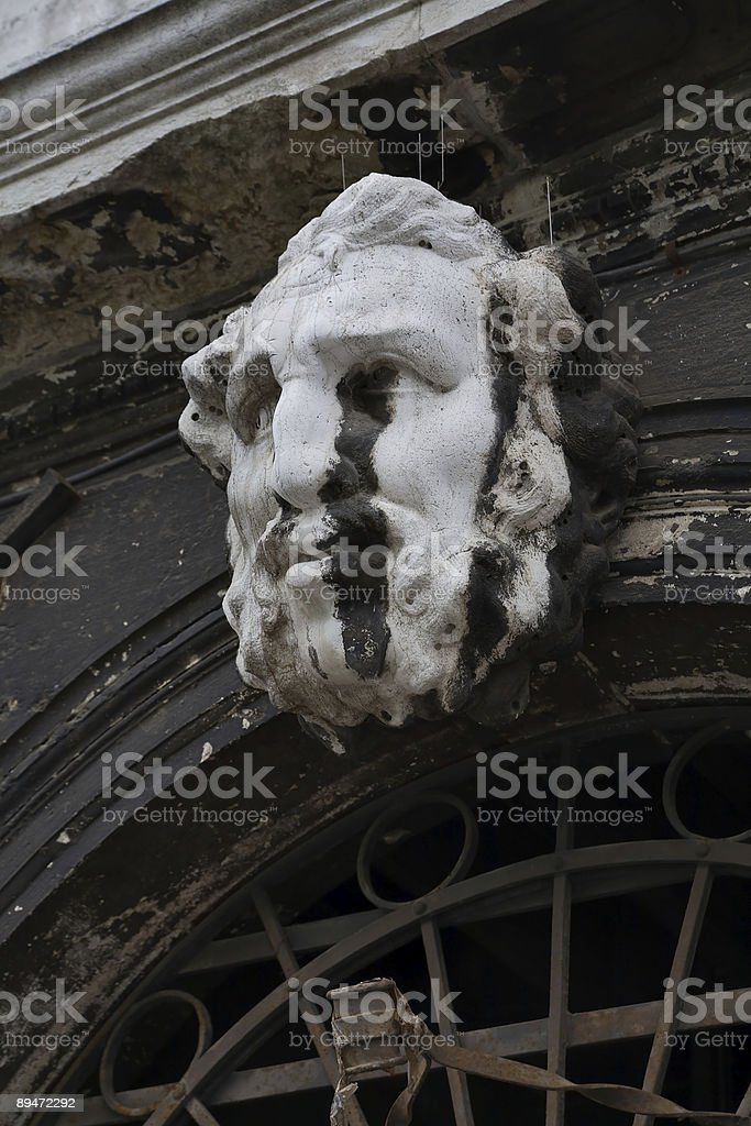 Stone face royalty-free stock photo