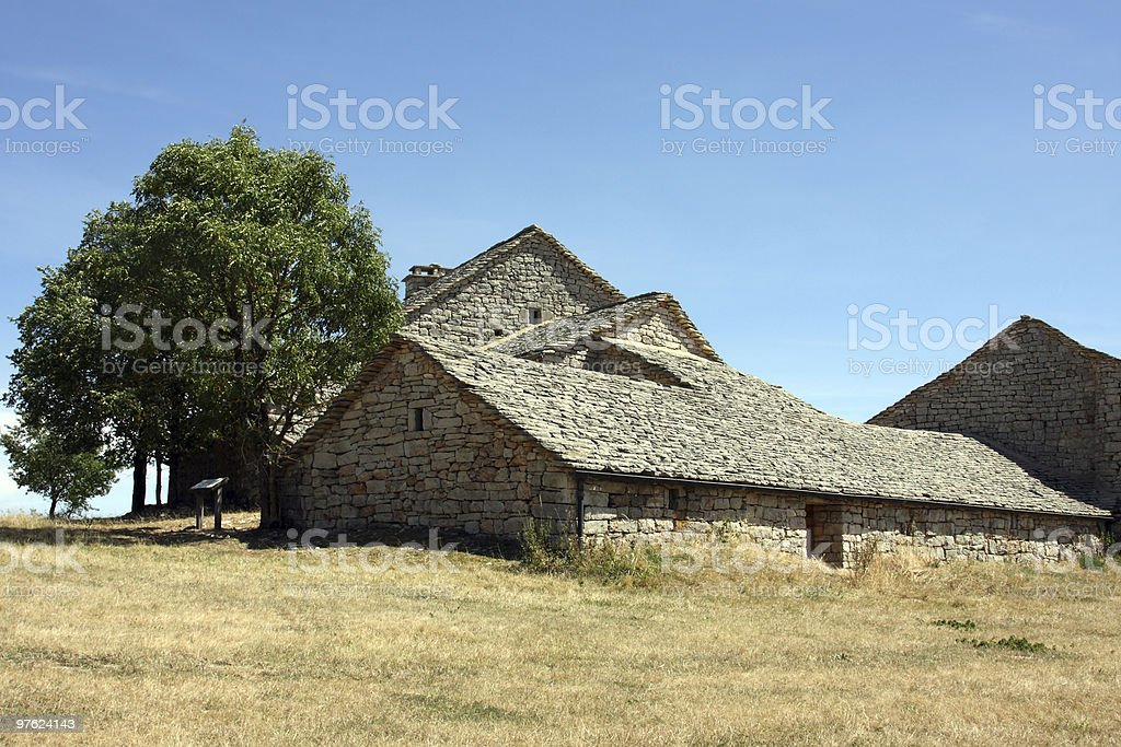 Stone farmhouse royalty-free stock photo