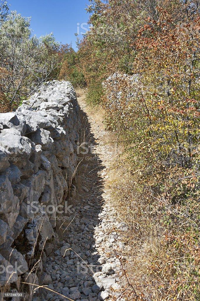 Stone fence in Croatia royalty-free stock photo