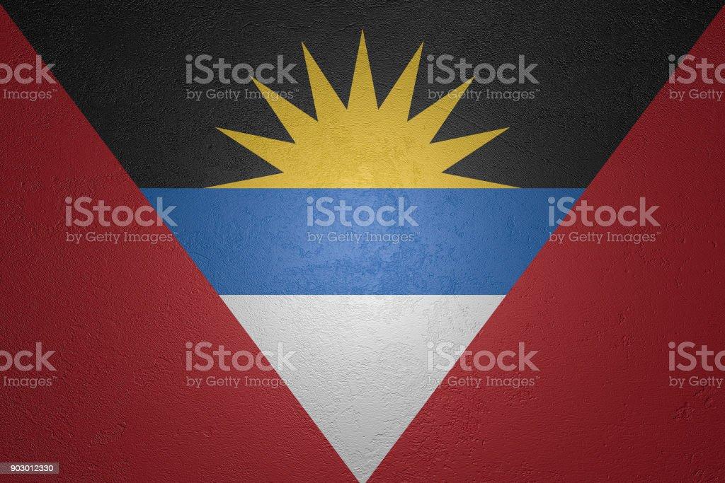 Stone flag stock photo