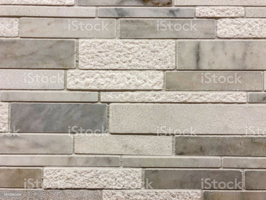 Stone Floor Tiles Or Granite And Marble Kitchen Backsplash In Gray Dark Brown And Red Colors Stock Photo Download Image Now Istock
