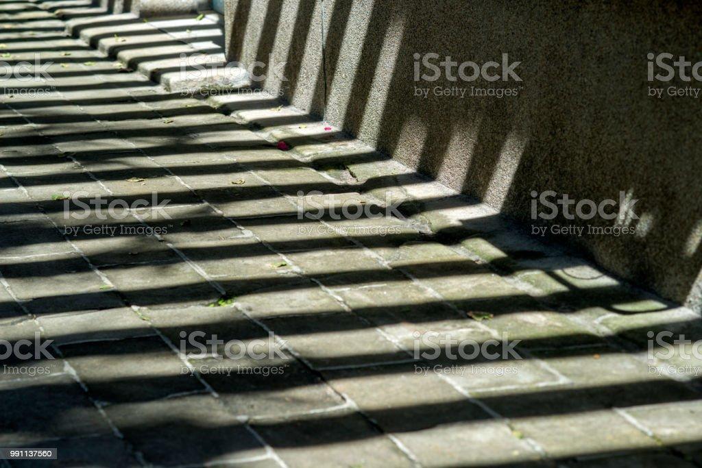 rock floor texture and shadow line in sidewalk
