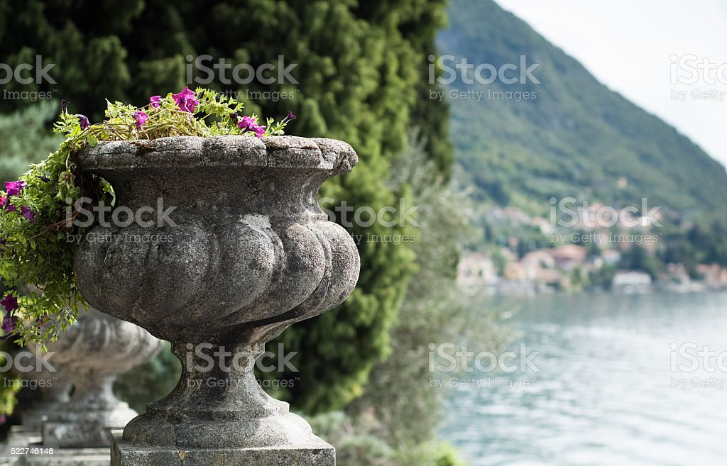 Stone Flower Vase stock photo