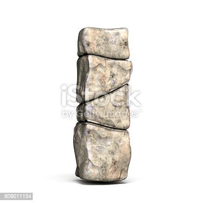 istock Stone font letter I 3D 926011134