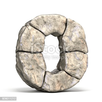 istock Stone font letter O 3D 926011212