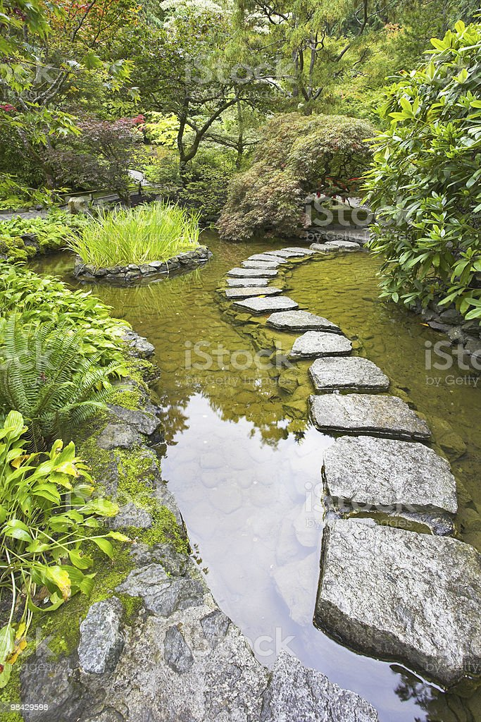Stone footpath. royalty-free stock photo