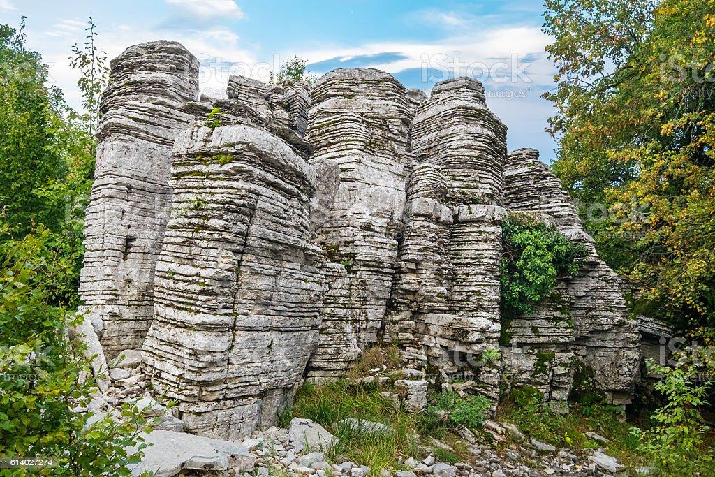Stone Forest. Zagoria, Greece stock photo