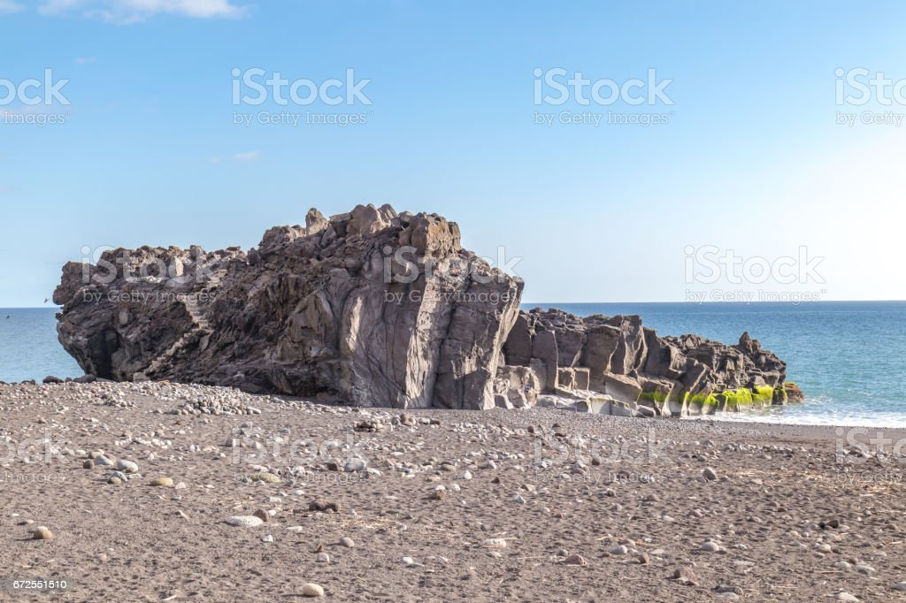 Stone formation at the beah beach stock photo