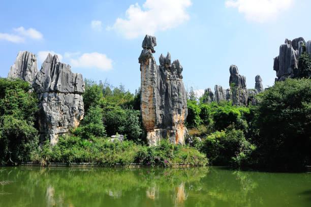 스톤 포레스트 공원의 풍경을 중국 곤명. - 쿤밍 뉴스 사진 이미지