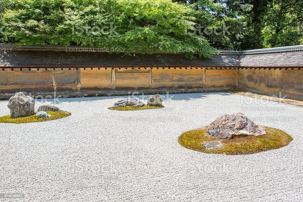 Jardin De Pierre Ryoanji Temple De Kyoto Japon Photos Et Plus D