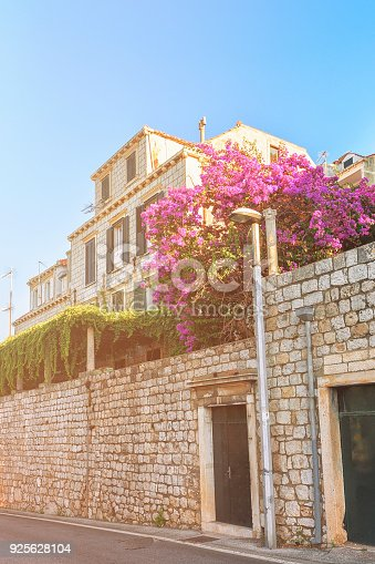 istock Stone gate in Old city of Dubrovnik summer 925628104