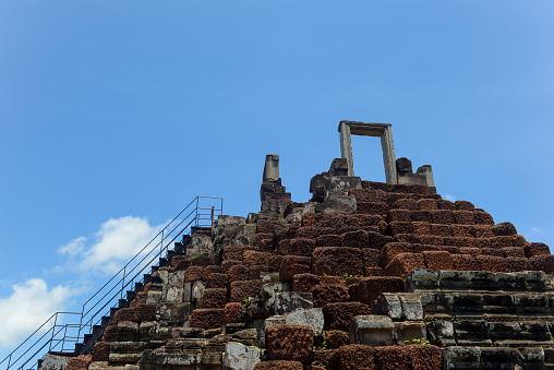 istock stone gate on the top of the temple 486247896
