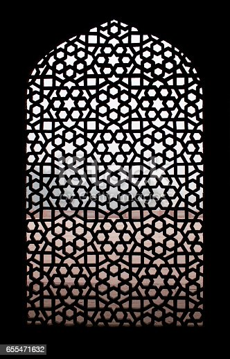 istock Stone grating at Humayun's Tomb in New Delhi, India 655471632