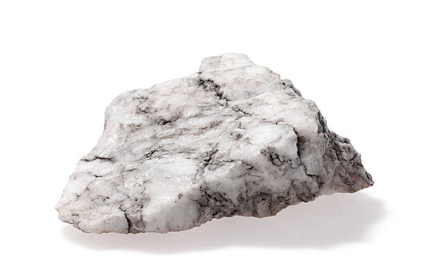 Stone gray on white Gray black one marble stone. Isolated on a white background. marble rock stock pictures, royalty-free photos & images
