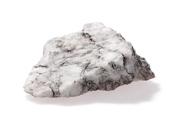 Stone gray on white stock photo