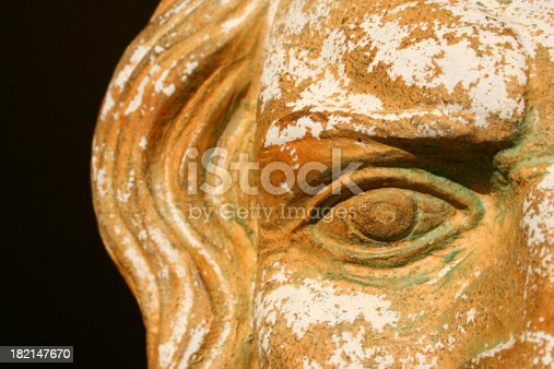 istock Stone Greek Zeus Mask Detail Vision into the past 182147670