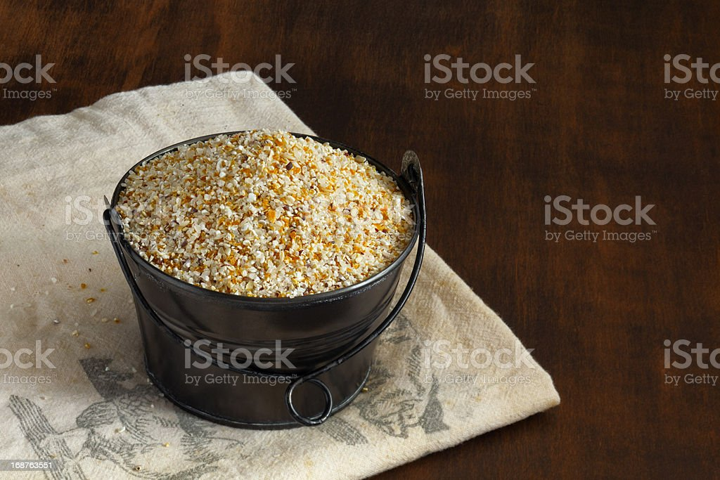 Stone Ground Corn Grits royalty-free stock photo
