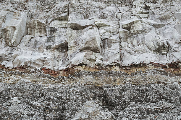 Stone ground wall layers in mine stock photo