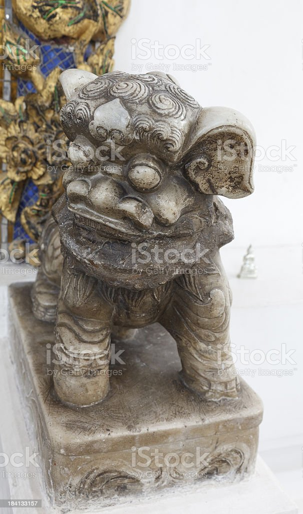 Stone Guardian Fu Lion stock photo