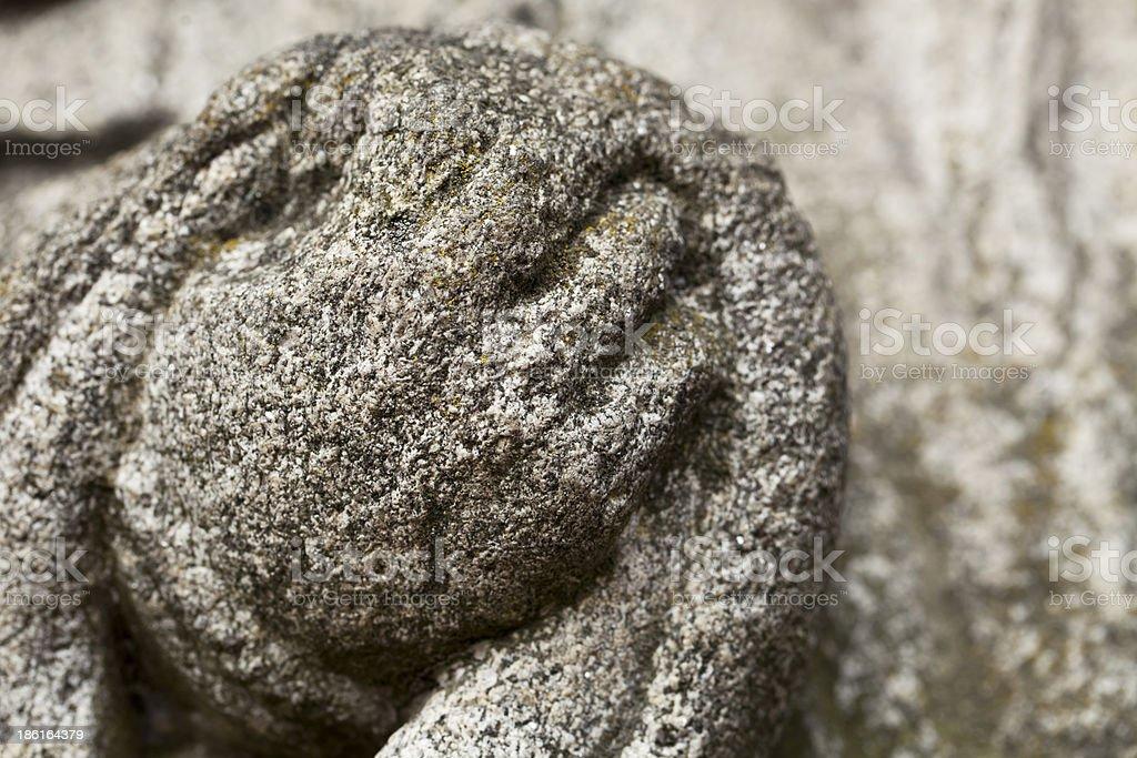 Stone hand stock photo