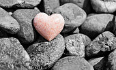 Stone heart in a stone heap.