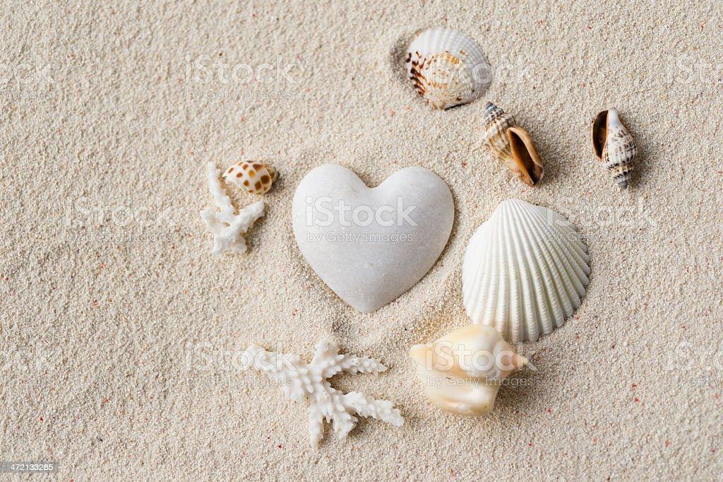 stone hearts stock photo