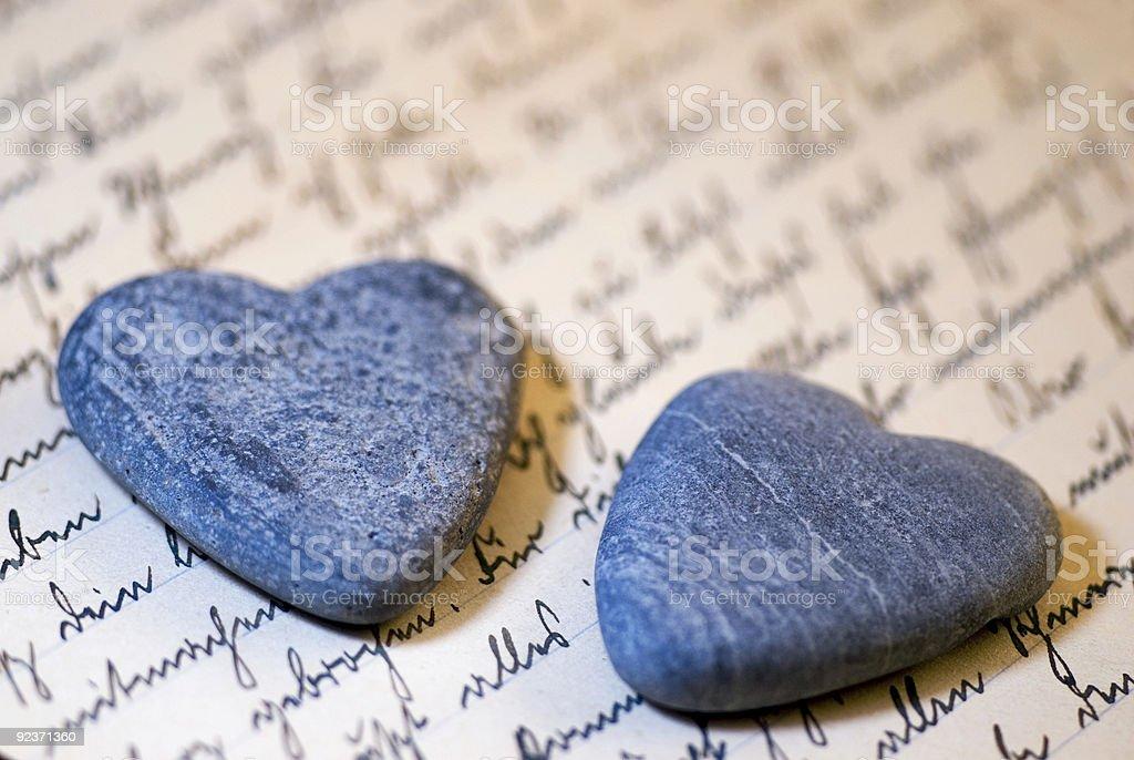 stone hearts royalty-free stock photo