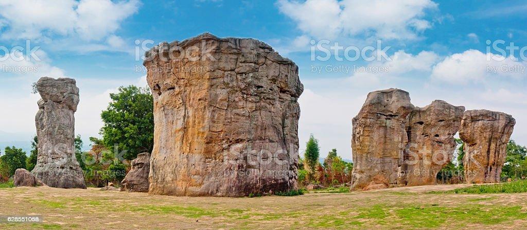 Stone henge in Thailand Asia stock photo