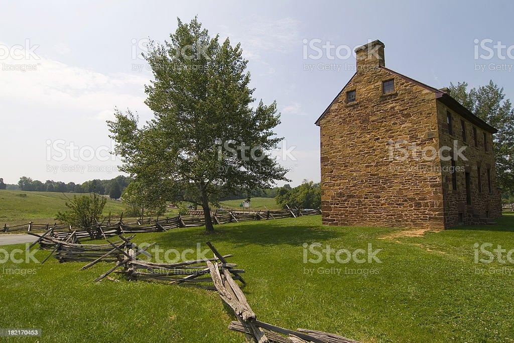 Stone house at Battlefields of Manassas stock photo